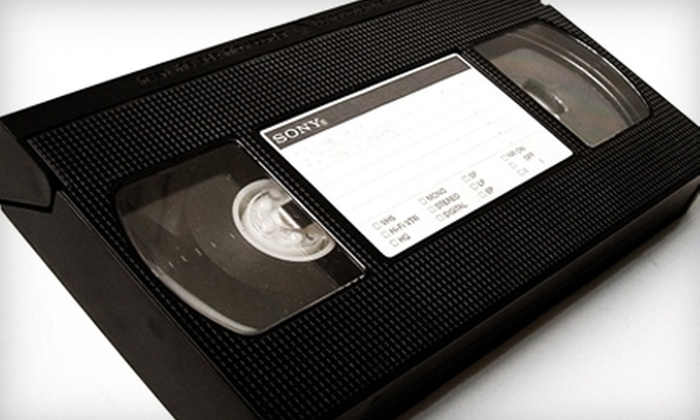 Home Video Studio New Jersey - Mehlville: $9 for One 120-Minute VHS or Camcorder Tape Converted to DVD at Home Video Studio in Beverly ($19.95 Value)