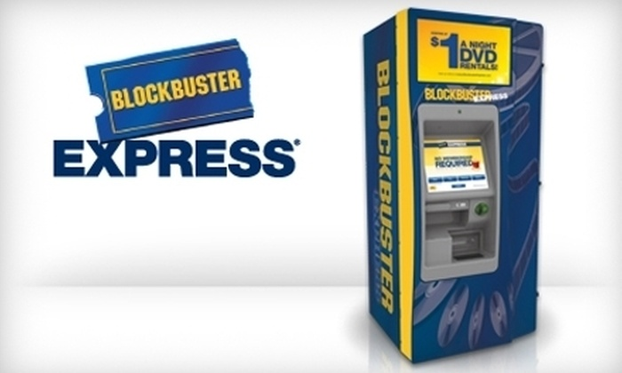 Blockbuster Express - Akron / Canton: $2 for Five One-Night DVD Rentals from Any Blockbuster Express in the US ($5 Value)