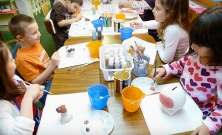 $40 Groupon to Color Me Pottery - Color Me Pottery in Fayetteville