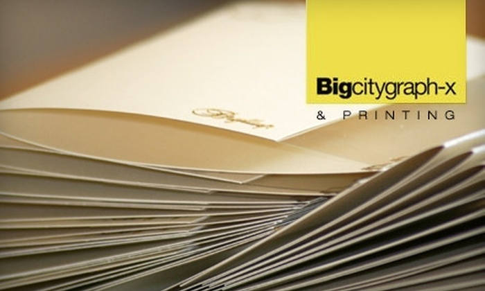 Big City Graph-X - Sunnyside: Printing Services at Big City Graphics. Choose From Two Options.