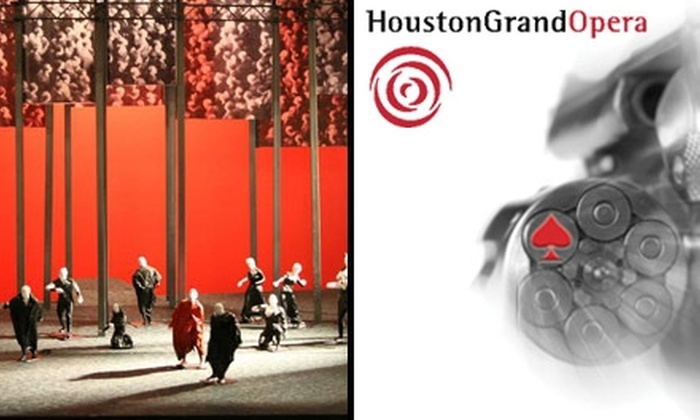 "Houston Grand Opera - Downtown: $30 Tickets to the Houston Grand Opera. Buy Here for ""Xerxes"" on Wednesday, May 12, at 7:30 p.m. ($61 Value). See Below for other dates and performances."