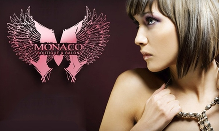 Monaco Boutique and Salon - Northwest Tampa: $29 for $70 Worth of Salon Services and a $20 Boutique Gift Card at Monaco Boutique and Salon ($90 Total Value)