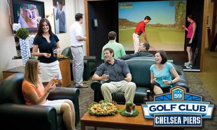 Golf Club at Chelsea Piers - Chelsea: $45 for Two-Hour Golf Simulator Time with Snacks Plus a $15 Golf Ball Card at the Golf Club at Chelsea Piers