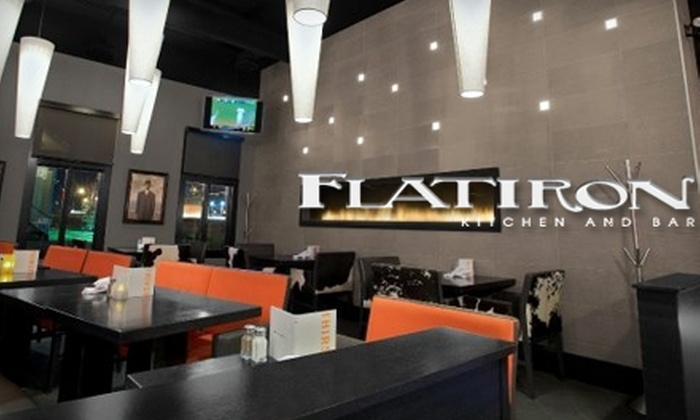 Flatiron Kitchen and Bar - Vista Heights: $18 for $40 Worth of Innovative Fare and Drinks at Flatiron Kitchen and Bar