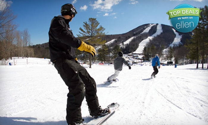 Mount Sunapee - Newport: Beginners' Skiing or Snowboarding Lesson for One or Two at Mount Sunapee in Newbury (Up to 59% Off)