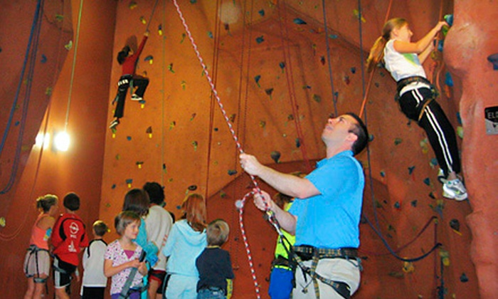 Courts Plus - Elmhurst: $12 for Two Climbing Passes and Equipment Rental at Courts Plus in Elmhurst (Up to $24 Value)