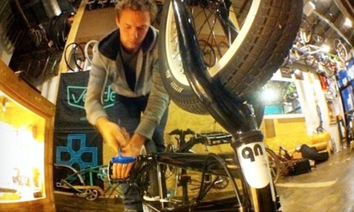 The Hub Bikes & Beans - Grant Beach: $25 for Bike Tune-Up ($75 Value) or $8 for a Five-Drink Punch Card (Up to $19.50 Value) at The Hub Bikes & Beans