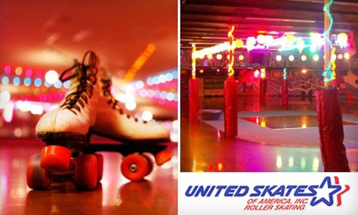 United Skates of America - Multiple Locations: $6 for One Admission to a Public Skate Session with Skate Rental at United Skates of America, Inc. (Up to $14 Value)
