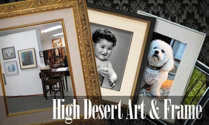 High Desert Art and Frame - Glenwood Hills: $40 for $100 Worth of Custom Framing at High Desert Art and Frame