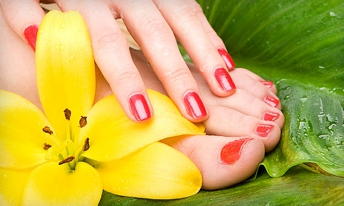 The Shear Place - Downtown Riverfront: $25 for a Mani-Pedi at The Shear Place