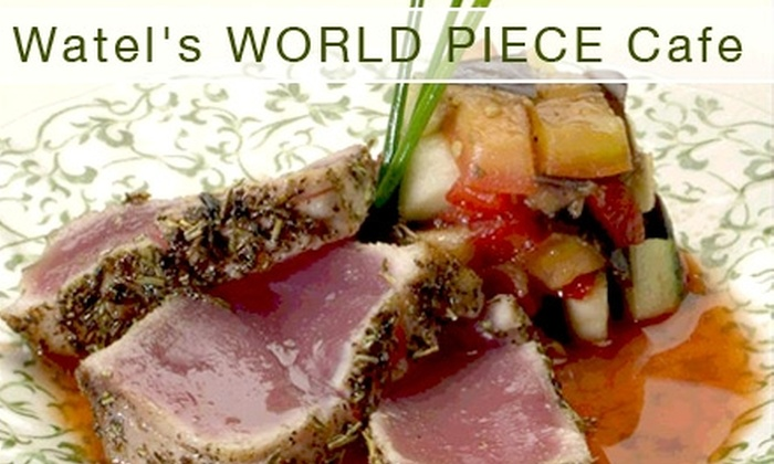 Watel's World Piece Café - Lower Greenville: $10 for $20 Worth of International Cuisine at Watel's World Piece Café