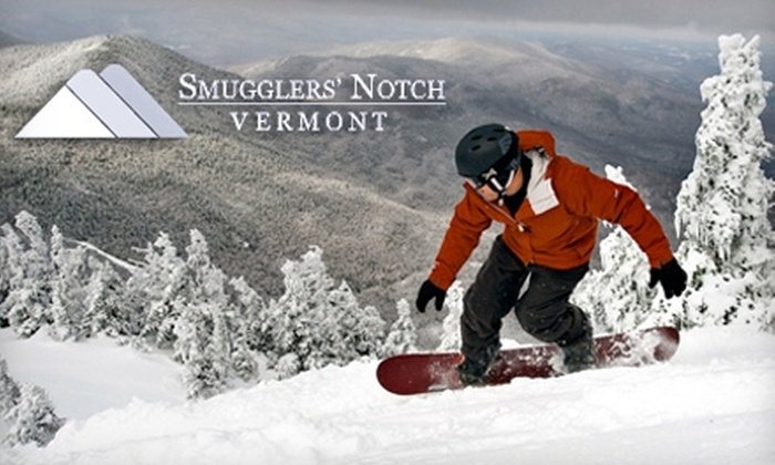 Smugglers' Notch - Jeffersonville: $38 for a Lift Ticket at Smugglers' Notch in Vermont (Up to $64 Value)