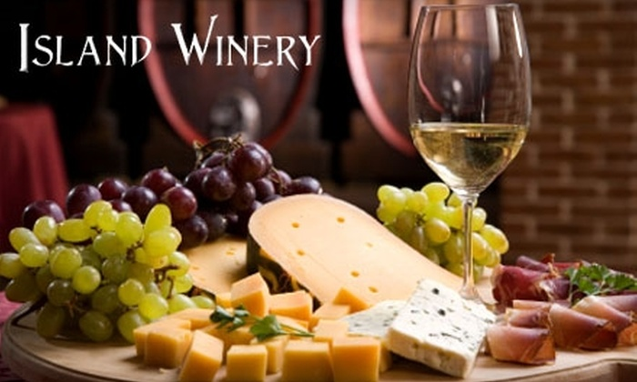 Island Winery - Hilton Head Island: Wine and Cheese Flights at Island Winery. Choose Between Two Options.