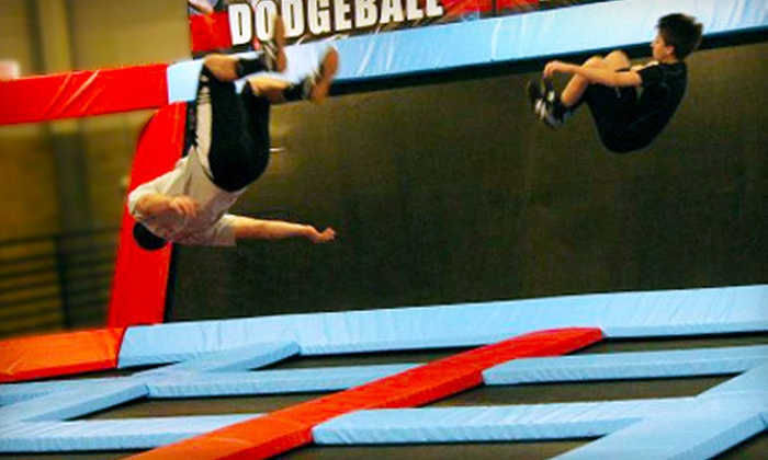 Defy Gravity - La Vista: Two, Four, or Eight One-Hour Open-Jump or Trampoline Dodge Ball Visits at Defy Gravity in La Vista (Up to 53% Off)