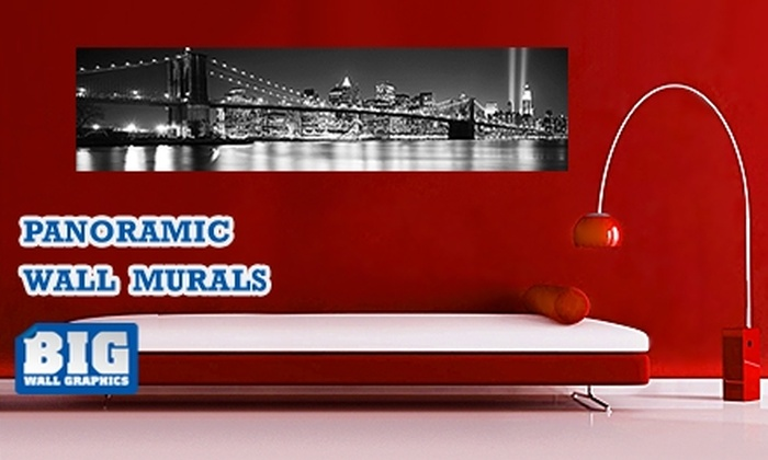"""Larger Than Life Prints - New York City: $35 for a """"Big Wall Graphic"""" Panoramic Wall Mural from LTL Prints ($84 Value)"""