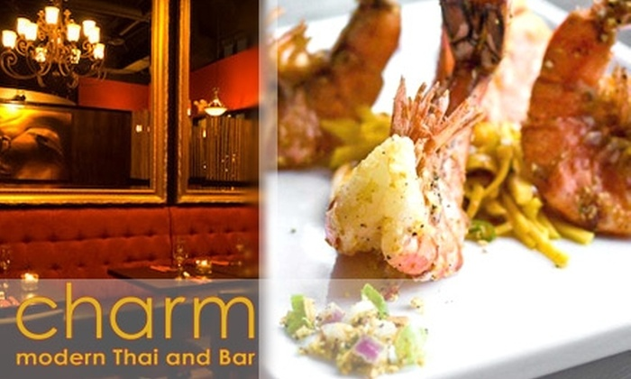 Charm Modern Thai - Downtown Vancouver: $15 for $30 Worth of Thai Cuisine & Drinks at Charm Modern Thai