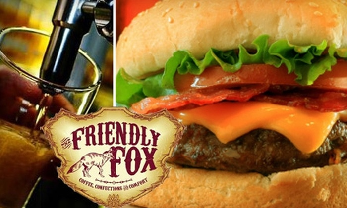 The Friendly Fox - Fairmont: $5 for $10 Worth of Café Cuisine, Coffee, and Confections at The Friendly Fox