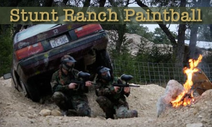 Stunt Ranch Paintball - Dripping Springs-Wimberley: $20 for Four-Hour Paintball Session Plus Gear at Stunt Ranch Paintball ($40 Value)