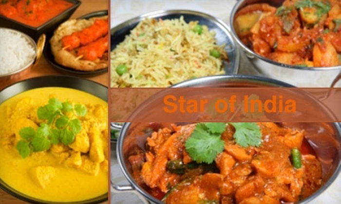 Star of India - Rio Grande: $10 for $20 Worth of Authentic Indian Cuisine and Drinks at Star of India