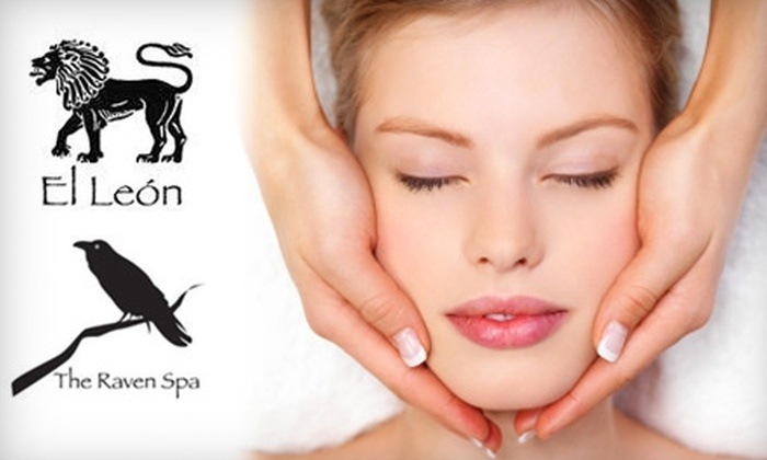 The Raven Spa and El León Spa - Multiple Locations: $90 for an Organic Facial and an Extremity-Remedy Treatment at The Raven Spa or at El León Spa