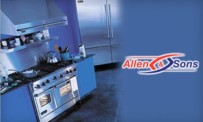 Allen and Sons Appliance Repair Company - Lake Balboa: $20 for $50 Worth of Parts and Labor from Allen & Sons Appliance Repair