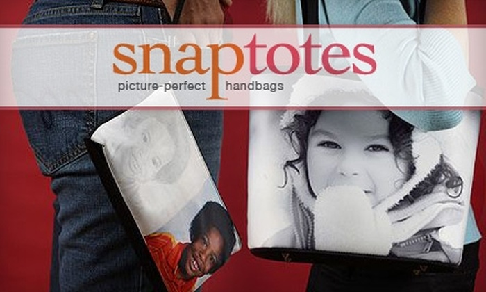 SnapTotes.com: $50 for a Custom-Photo Bucket Bag ($104.95 Value) or $29 for a Custom-Photo Clutch ($60 Value) from SnapTotes.com
