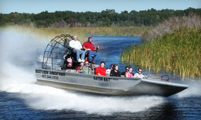 Boggy Creek Airboat Rides - St. Cloud: Scenic Airboat Tour Outing for Child, Adult, or Family from Boggy Creek Airboat Rides in Kissimmee (Up to 52% Off)