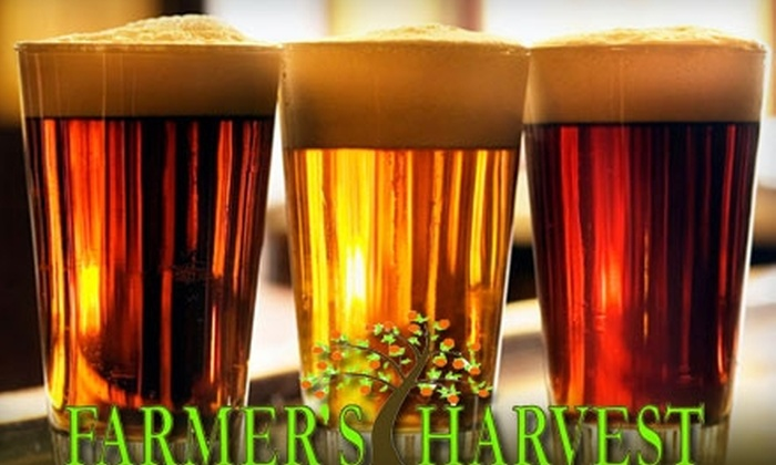 Farmer's Harvest - Garfield: $17 for NFL/NCAA Football Game Beer Tasting and 10% Off Groceries at Farmer's Harvest Market ($35 Value)