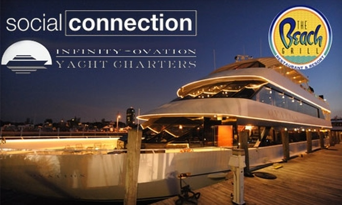 "Infinity and Ovation Yacht Charters - The Nautical Mile: $60 for a Groupon-Exclusive Sunset Cruise Aboard the ""Ovation"" Yacht, Plus After-Party, from Infinity and Ovation Yacht Charters on Saturday, July 17 ($135 Value)"