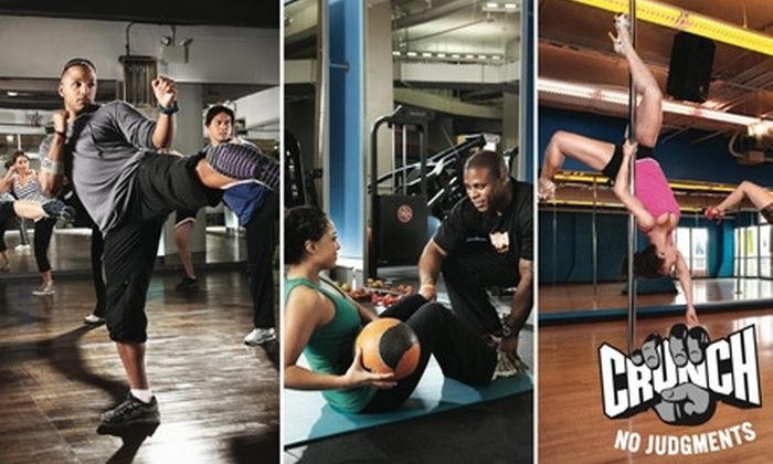 Crunch - Hollywood: $39 for a One-Month Gym Membership to Crunch ($150 Value)