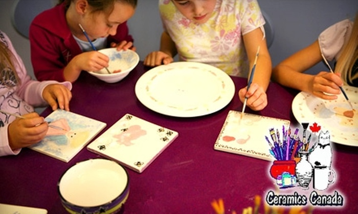 Ceramics Canada - Stevenson: $10 for $20 Towards Pottery and Pottery Painting at Ceramics Canada