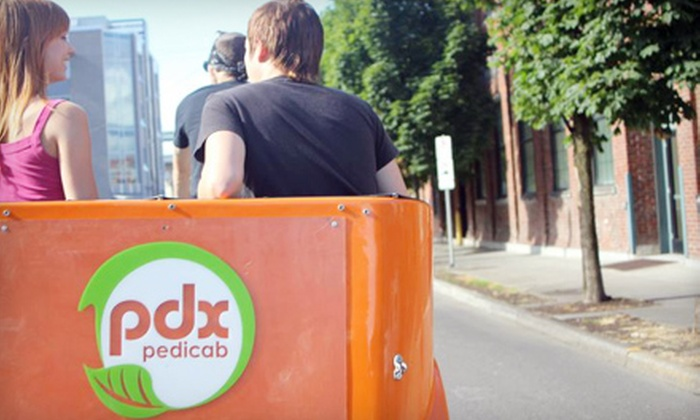Pdx Pedicab - Northwest District: $149 for a Pedicab Urban Wine-Tasting Adventure for Two from Pdx Pedicab ($300 Value)