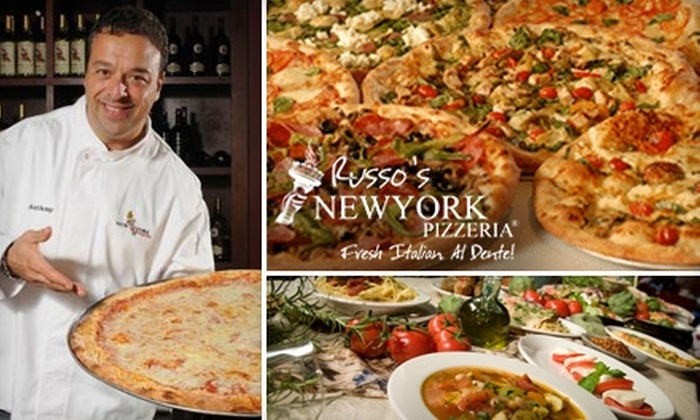 Russo's New York Pizzeria - The Woodlands: $10 for $20 Worth of Fresh Pizza and Italian Fare at Russo's New York Pizzeria in The Woodlands