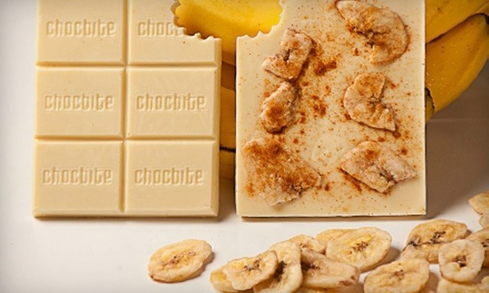 Chocbite: $30 for $60 Worth of Custom-Designed Chocolate Bars from Chocbite