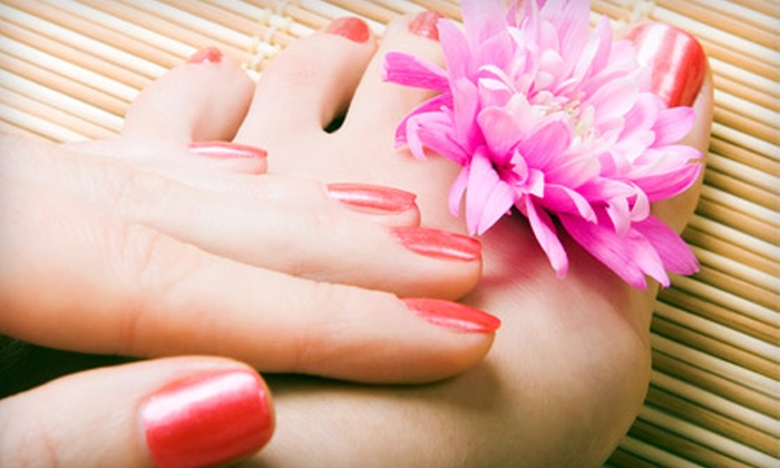 Juste B - Locust Point: $40 for a Quench My Hands and Feet Mani-Pedi at Juste B ($90 Value)