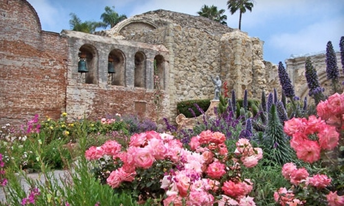 Mission San Juan Capistrano - San Juan Capistrano: $9 for Two Adult Admission Tickets ($18 Value) or $17 for an Individual Membership ($35 Value) to Mission San Juan Capistrano