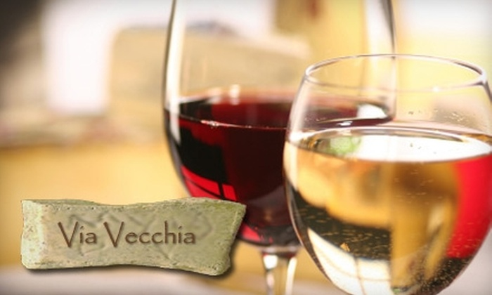 Via Vecchia Winery - Brewery District: $10 for Two-Person Wine Tasting at Via Vecchia Winery ($20 Value)