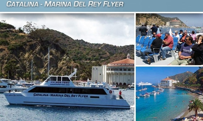"Catalina-Marina Del Rey Flyer - Marina Del Ray: $49 for a Round-Trip High-Speed Catamaran Ride from Marina Del Rey to Catalina Island by ""Catalina-Marina Del Rey Flyer"""