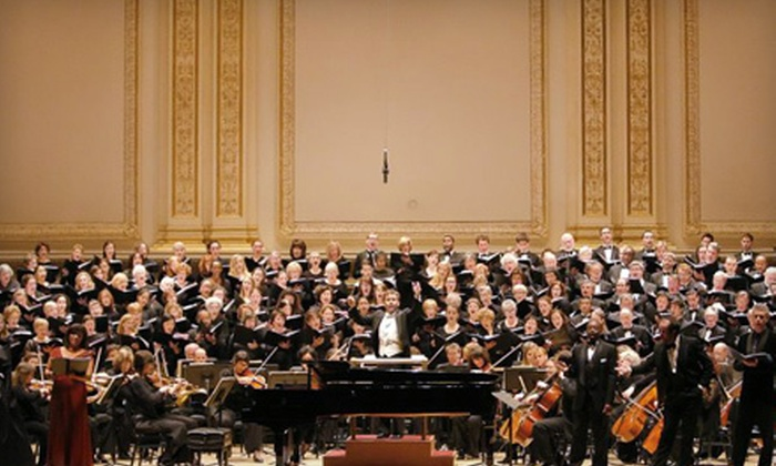 The Collegiate Chorale - Clinton: Concert Outing to The Collegiate Chorale at Carnegie Hall on February 3 (Up to 51% Off). Six Seating Options Available.