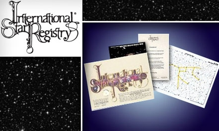 Star Registry - Chicago: $25 for $55 Toward Star Naming and More at the International Star Registry