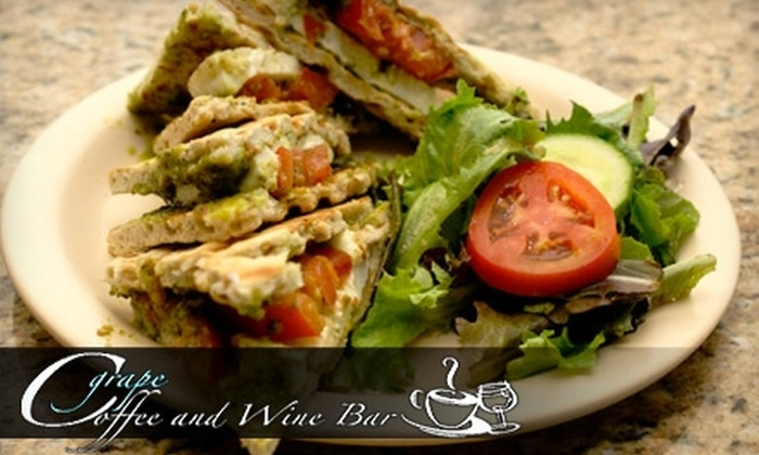 Cgrape Coffee and Wine Bar - Naples: $15 for $30 Worth of Dinner and Drinks at Cgrape Coffee and Wine Bar in Bonita Springs (or $5 for $10 Worth of Lunch Fare)