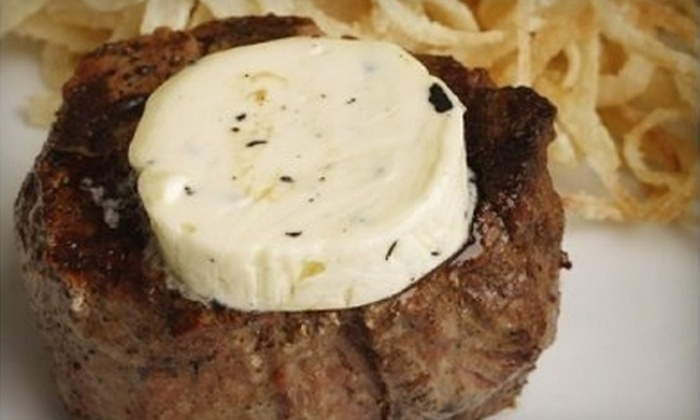 Neil Jordan's Steakhouse - Mount Pleasant: $15 for $30 Worth of Upscale Steakhouse Dinner Fare at Neil Jordan's in Mount Pleasant (or $7 for $15 Worth of Brunch Fare)