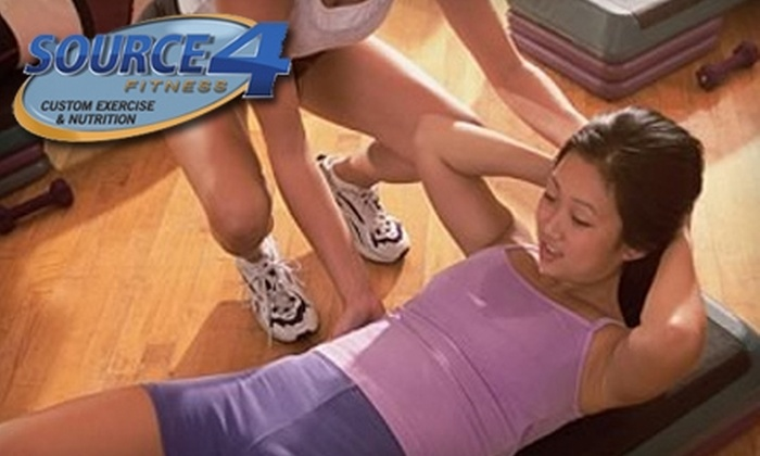 Source4 Fitness - Holly Springs: $35 for a Two-Month Membership to Source4 Fitness, Eight Personal Training Sessions, and Customized Nutrition Plan in Woodstock ($337 Value)