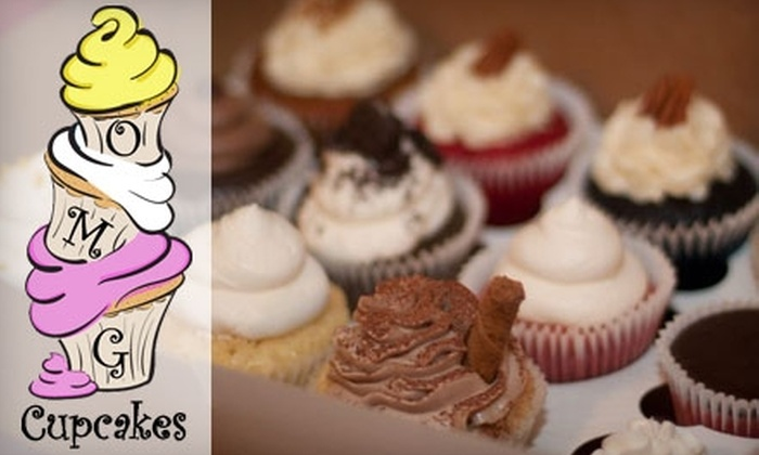 OMG Cupcakes - Raleigh / Durham: $19 for a Dozen Cupcakes Delivered by OMG Cupcakes ($39.16 Value)