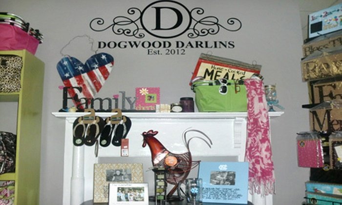 Dogwood Darlins' Embroidery & Gifts - Terry Sanford: Home Decor and Gifts or Vinyl Wall Art at Dogwood Darlins' Embroidery & Gifts in Fayetteville (Up to 55% Off)
