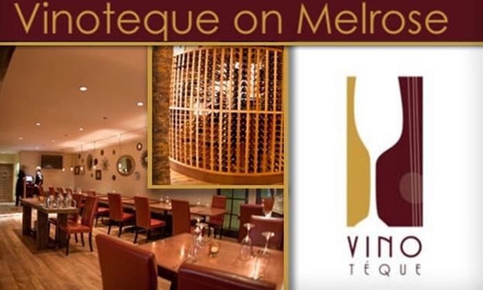 Vinoteque on Melrose  - Melrose: $18 for a High-End Wine-Trio Flight and One Tender Kobe-Beef Slider at Vinoteque on Melrose ($49 Value)