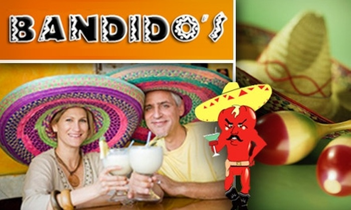 Bandido's Mexican Cafe - Multiple Locations: $10 for $25 Worth of Savory Tex-Mex and Drinks at Bandido's Mexican Cafe