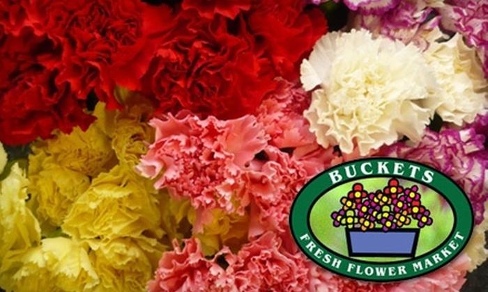 Buckets Fresh Flower Market - Mill Lake: $15 for $30 Worth of Flowers at Buckets Fresh Flower Market