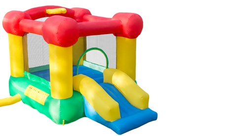 Inflatable Castle Bounce House with Slide and Hoop bb47c9f8-4bb5-11e7-929b-00259060b5da