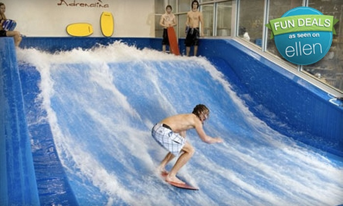 Adrenalina - Plano: $20 for Two 30-Minute Indoor-Surf-Wave-Machine Sessions ($40 Value) Plus 25% Off Merchandise at Adrenalina in Plano